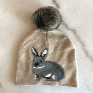 Accessories - 🎁💕 NWOT Faux Fur Pom Rabbit Beanie hat 🐰💕 cd2a3362fc0